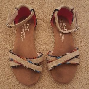 Little Girls TOMS Sandals- Size 13Y